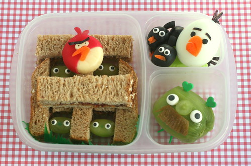 angry birds bento lunch | by anotherlunch.com
