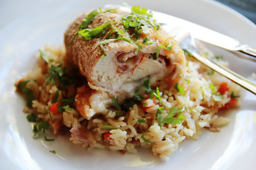 Chicken cordon bleu and rice pilaf | by Gisete Kindahl