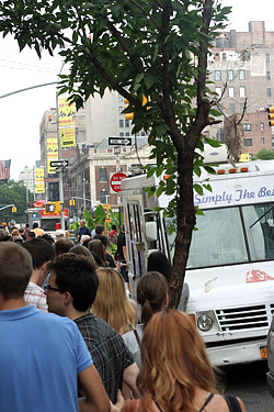 line for big gay ice cream truck | by David Lebovitz