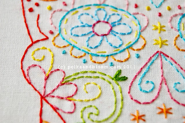 Calavera embroidery pattern - detail