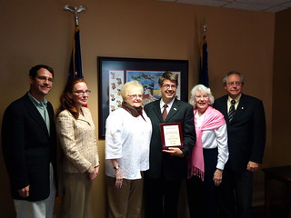 Receiving the 2011 Standing up for America's Seniors Award from 'Retire Safe' | by Representative Terry