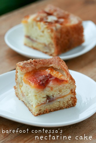 Barefoot Contessa's Nectarine Cake | by Food Librarian