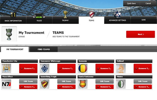 FIFA 12 Creation Centre: Choose Tournament Teams | by EA SPORTS FIFA