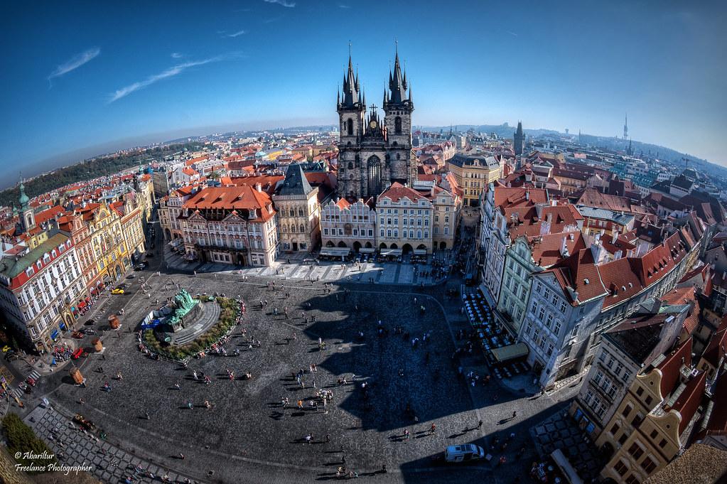Plaza De La Ciudad Vieja De Praga (I) (Fisheye Vision)
