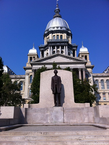 Lincoln before Springfield Capitol | by lvscoop16