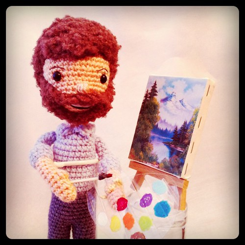 Bob Ross and the joy of painting :) #amigurumi #crochet | by CraftyisCool1