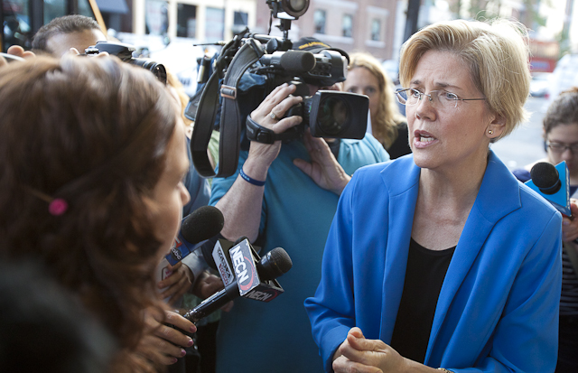 Elizabeth Warren announced her candidacy for the United States Senate in Massachusetts.
