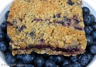 Easy Blueberry Bonanza Breakfast Bars with Oat Crust and Streusel Topping | by Farmgirl Susan