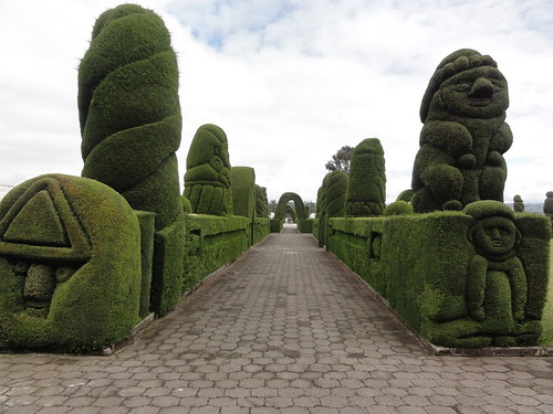 A topiary avenue