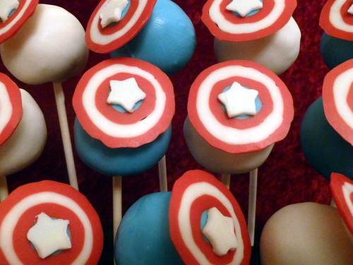 Captain America Fondant Cake Design