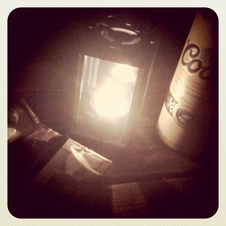 On break with beer, cigarettes and candle lantern | by dowell.melissa