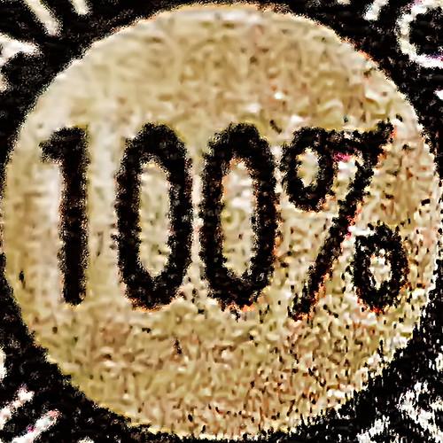 100 per cent