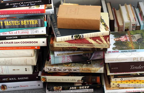 cookbook pile up | by David Lebovitz