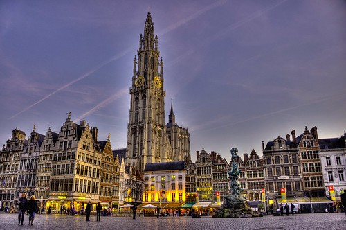 Town Square with Antwerp Cathedral | by McGinityPhoto