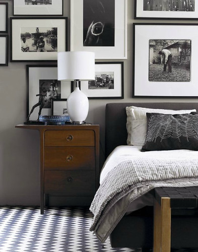 David Prince {black, white and gray eclectic modern bedroom} | by recent settlers