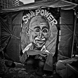 "Mahatma Gandi, ""Conquer Your Opponent With Love"", Occupy DC, McPherson Square, Washington, DC 