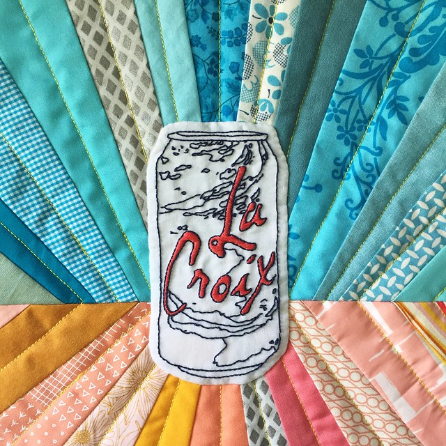 LaCroix Quilt, close