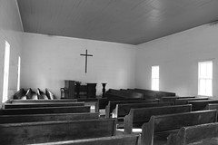 Interior of Cades Cove Methodist Church by 1 Horseman.