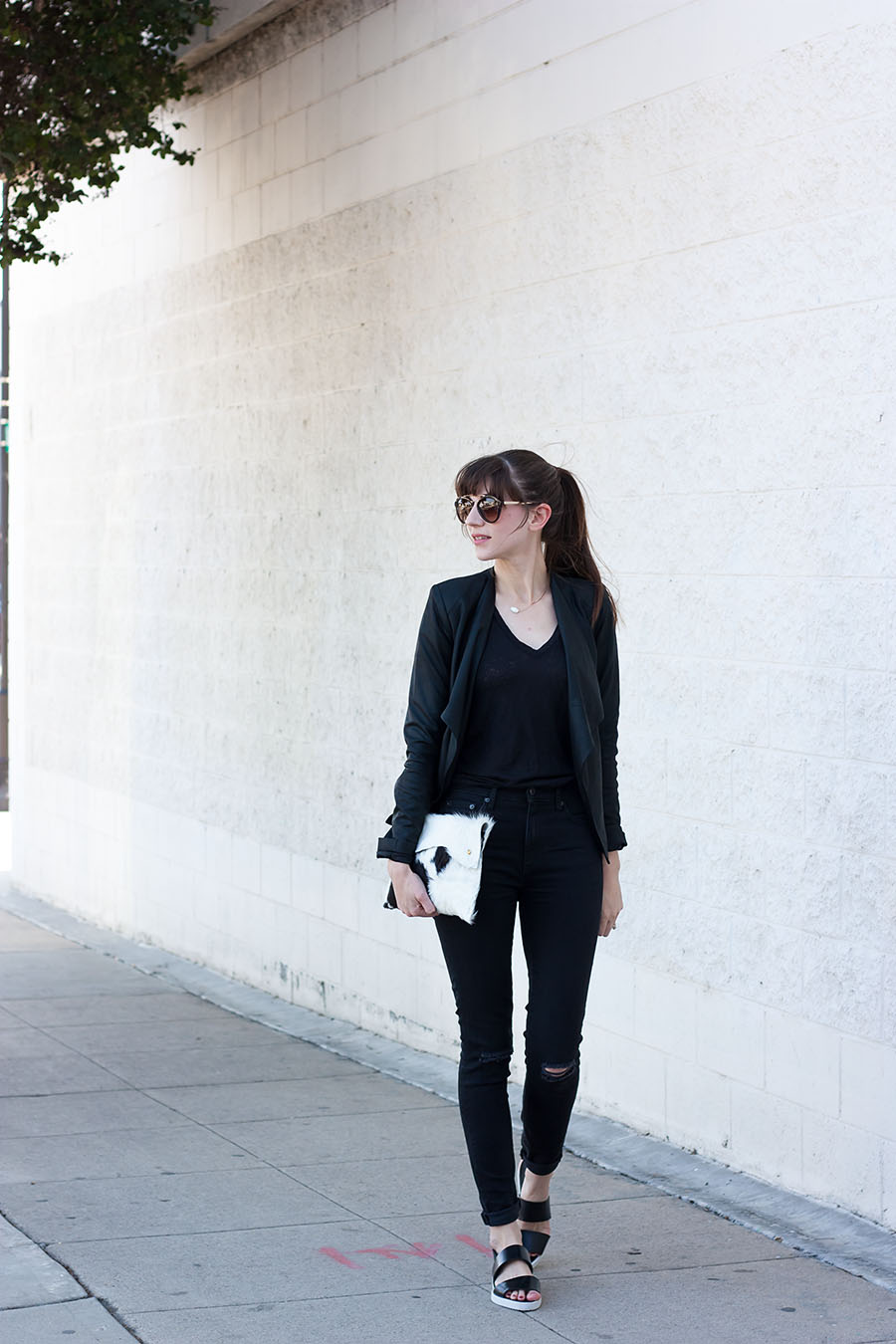 BB Dakota Jacket, All Black Outfit, Walter and George Clutch