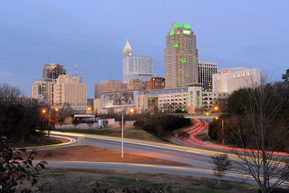 Downtown Raleigh at dusk - January 2012 | by NCDOTcommunications