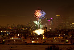 Greenwich Royal Borough Fireworks by wizbowes