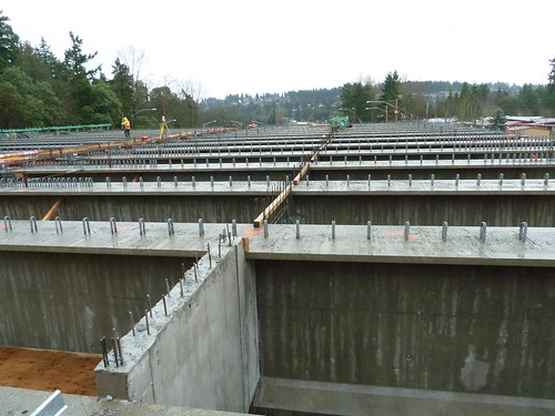 Top view of the girders that form the foundation for the new lid at Evergreen Point Road | by WSDOT
