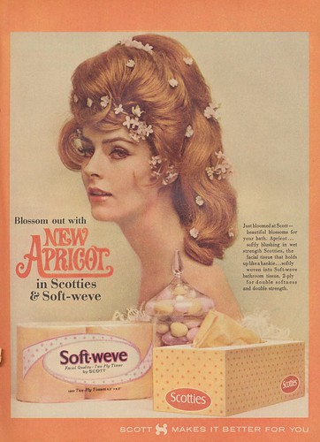 Blossom Out With New Apricot in Scotties & Soft-Weve | by The Cardboard America Archives
