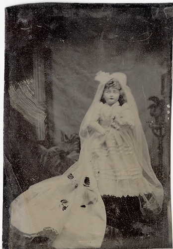 Tintype of a Bride Doll | by Photo_History - Here but not Happy