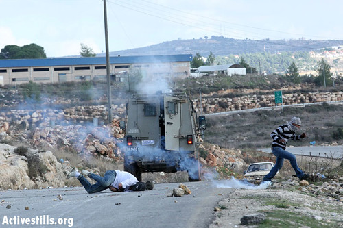 One critically injured in Nabi Salih demonstration, West Bank, 09.12.2011 | by activestills