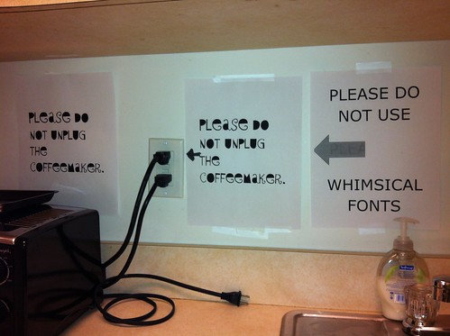 Just say no to whimsical fonts | by passiveaggressivenotes