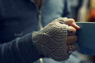 My Knitted Mermaid Gloves...Two Years Later | by Izznit