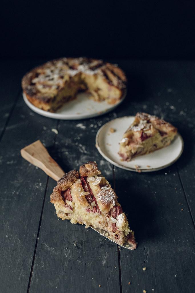 Rhubarb & Orange Blossom Bakewell Tart