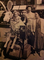 muffin the mule, gran, mum & me c.1960 by sheilamcw