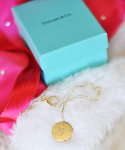 tiffany gold t pendant | by ...love Maegan