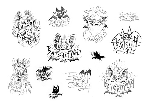 Batshit Crazy Sketches | by Shelley Barnes Illustration