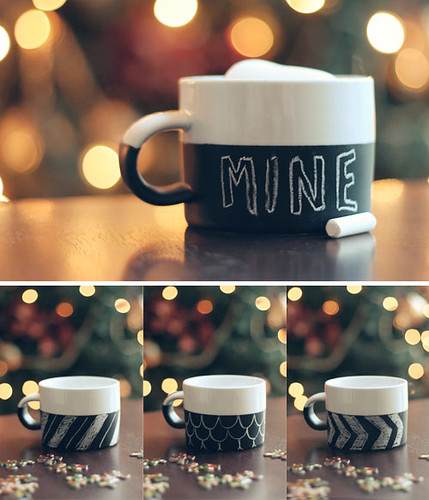 DIY chalkboard paint mugs | by the style files