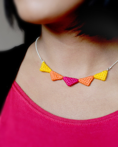 Tribal Triangle Necklace | by HelloNaju