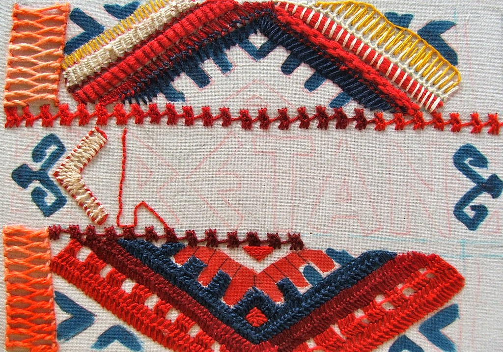 Cretan Stitch (TAST 2012) unfinished