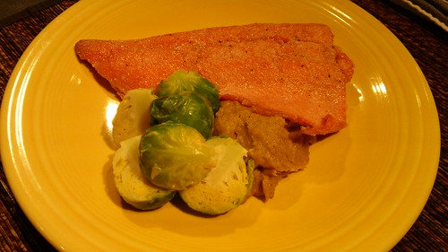 salmon with Brussels sprouts | by phandcp