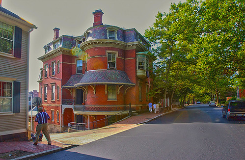 Historic Building and challenged photographer ... Benefit Street, east side of Providence near the Brown University campus | by colorob