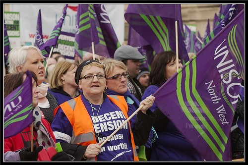 #strike #n30 UNISON Pensions Protest Rally : Flag Market : Preston : | by norbet1