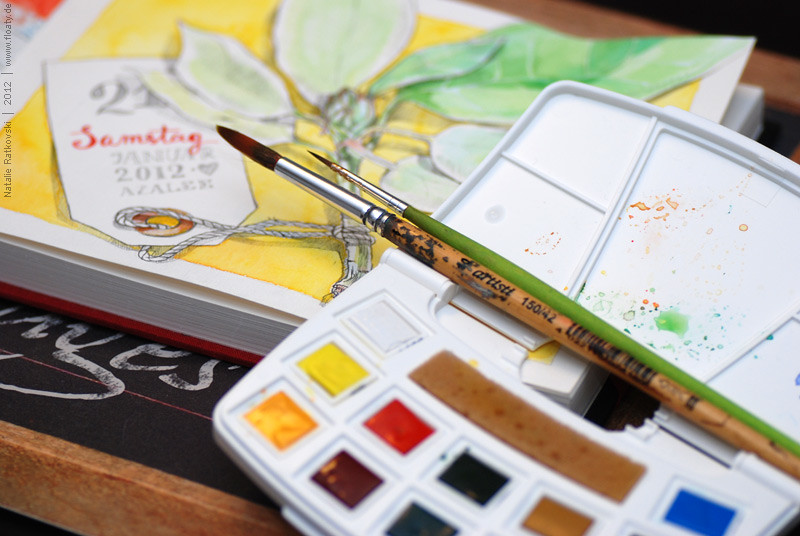 """My new aquarelle and """"365"""" sketchbook"""