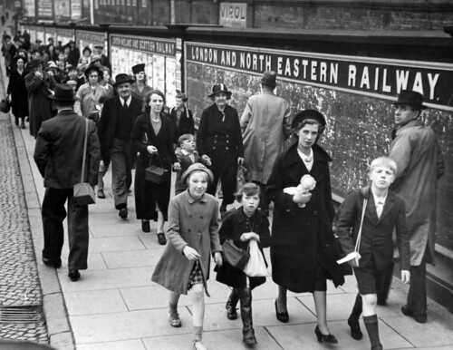 Evacuation of Children: Arriving at London Road Station, 1939 | by archivesplus