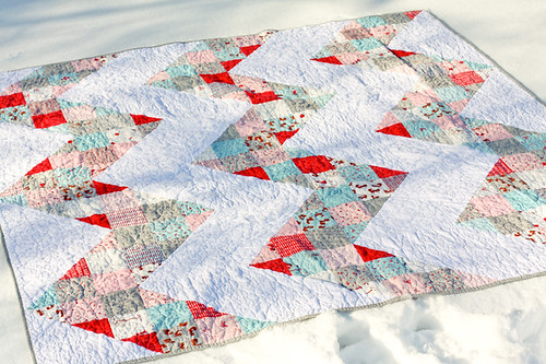 Patchwork Chevron Quilt Tutorial | by Jeni Baker | In Color Order