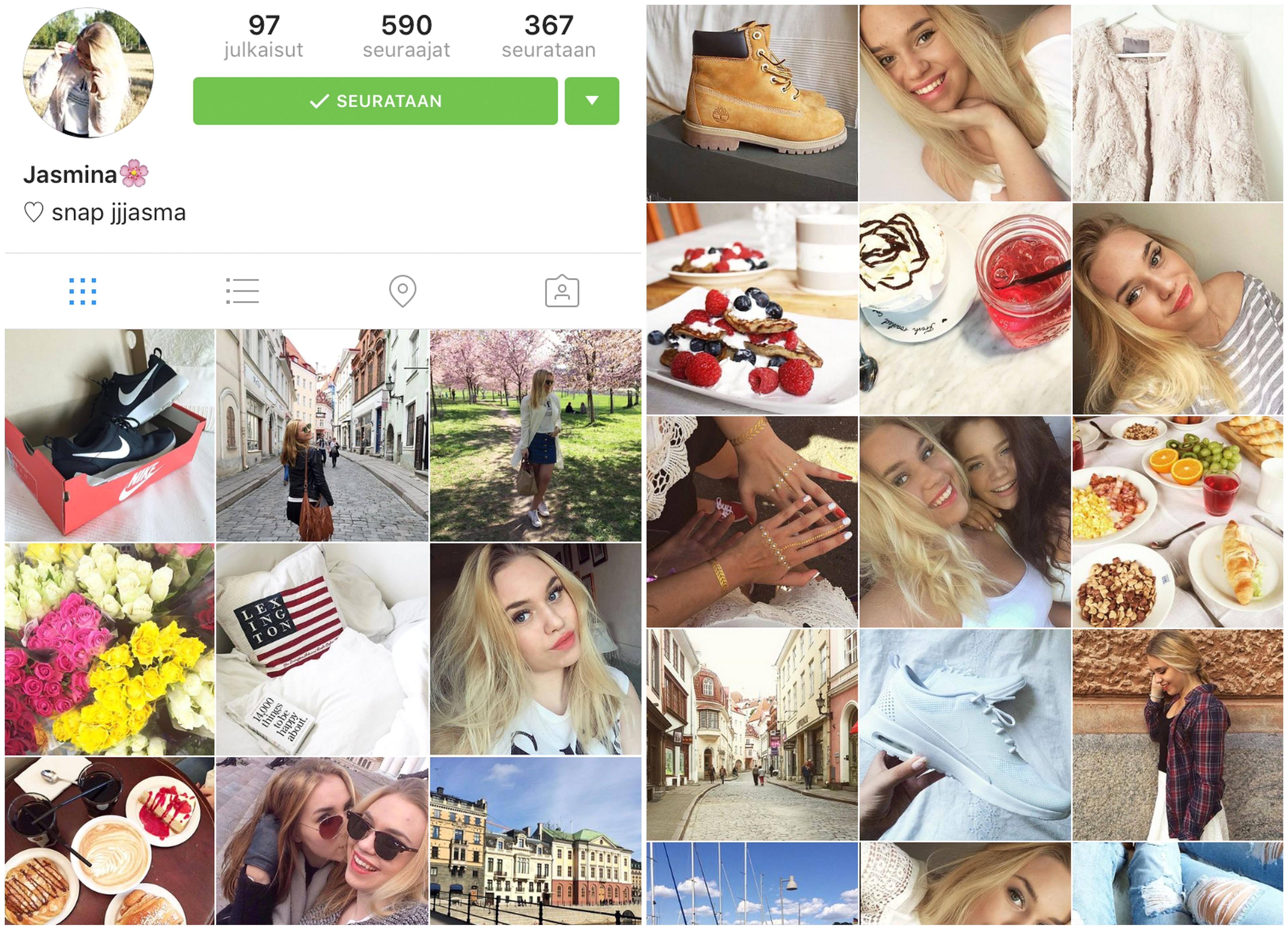instagram suosikit