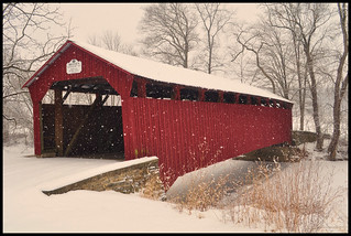 Dreese Covered Bridge in Snowstorm | by Susquehanna River Valley