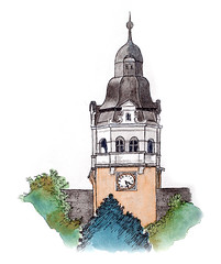 Rollettmuseum, Baden, Austria by Sketching Chris