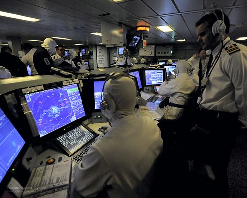 Type 45 Destroyer HMS Diamond's Operations Room During a Thursday War | by Defence Images