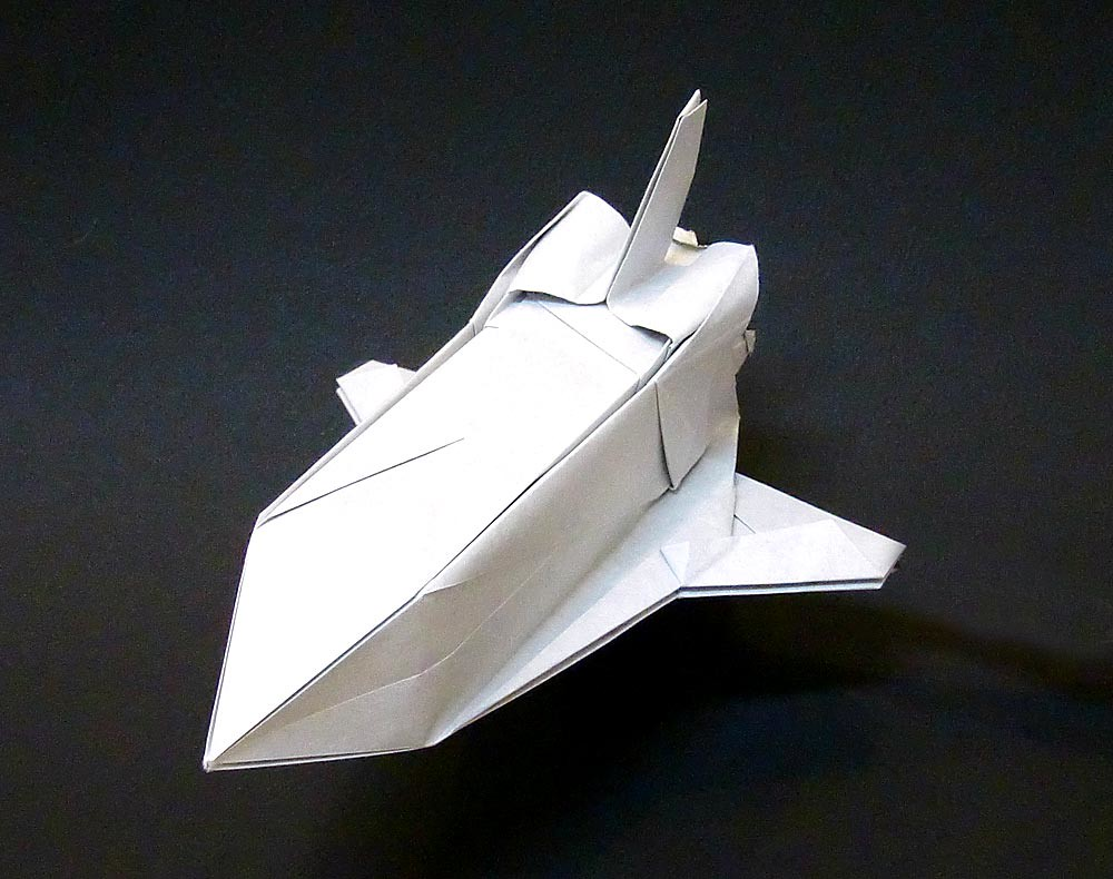 how to make a paper nasa space shuttle