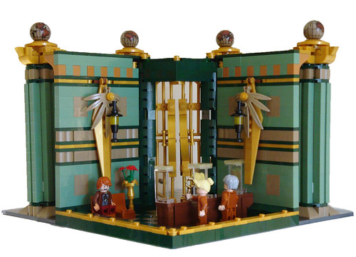 LEGO Modular Bank - the back walls can be detached to show internal view | by dita_svelte
